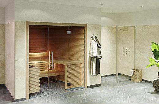 Sauna kaufen leicht gemacht - mit dem Saunakonfigurator planen Sie Ihre Sauna mit Glasfront für Zuhause.