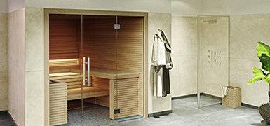 Sauna für Zuhause mit Glasfront - Sauna Online-Shop
